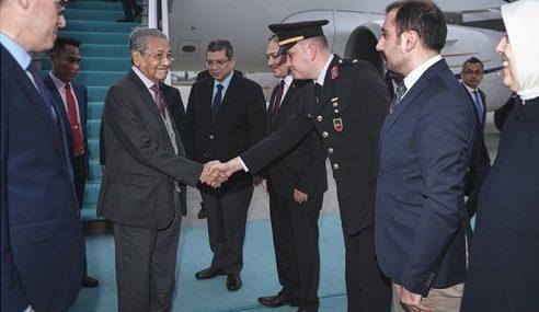 Mahathir Mulakan Lawatan Rasmi 4 Hari Ke Turki