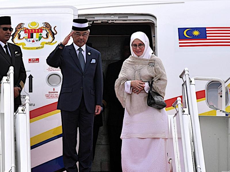 Lambaian Kasih Brunei, Agong Selesai Lawatan Negara