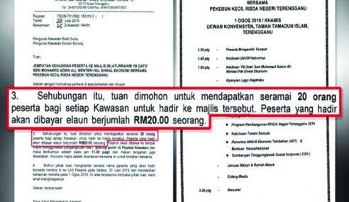 Peserta Datang Program Azmin Dibayar RM20?