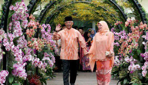 Agong Berkenan Rasmi Floria Diraja Putrajaya 2019