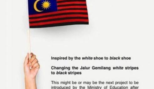 Marah Tulisan Jawi, Jalur Putih Jalur Gemilang Ditukar Hitam