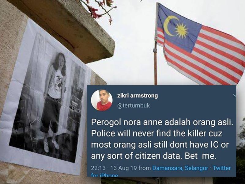 Polis Tahan Pengguna Twitter Dakwa Nora Anne Dirogol