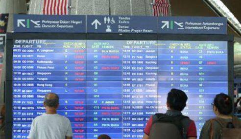 Gangguan Sistem KLIA, Beberapa Penerbangan Ditangguh