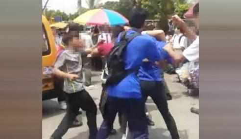 Polis Siasat Video Sekumpulan Pelajar Bergaduh