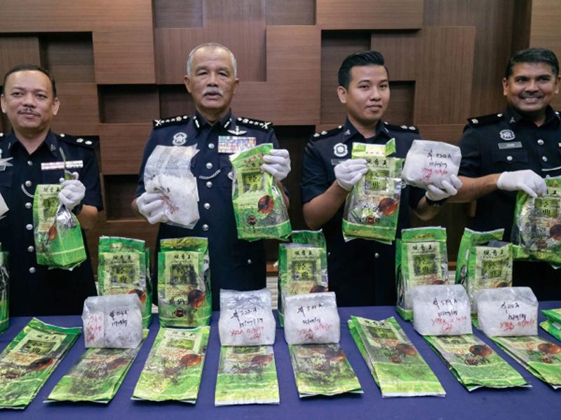 6 Ahli Geng 35 Ditahan Edar Syabu RM1.4 Juta