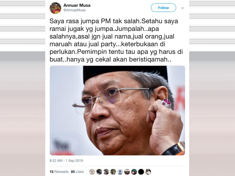 Tak Salah Jumpa PM, Asal Tak Jual Nama, Maruah, Parti – Annuar