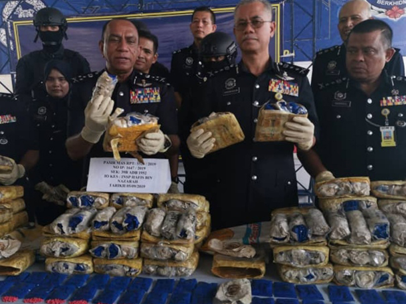 Polis Rampas Dadah Bernilai Lebih RM10 Juta
