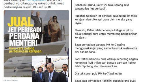 Rafizi Membisu Isu 'Jet Peribadi', Sindir Najib