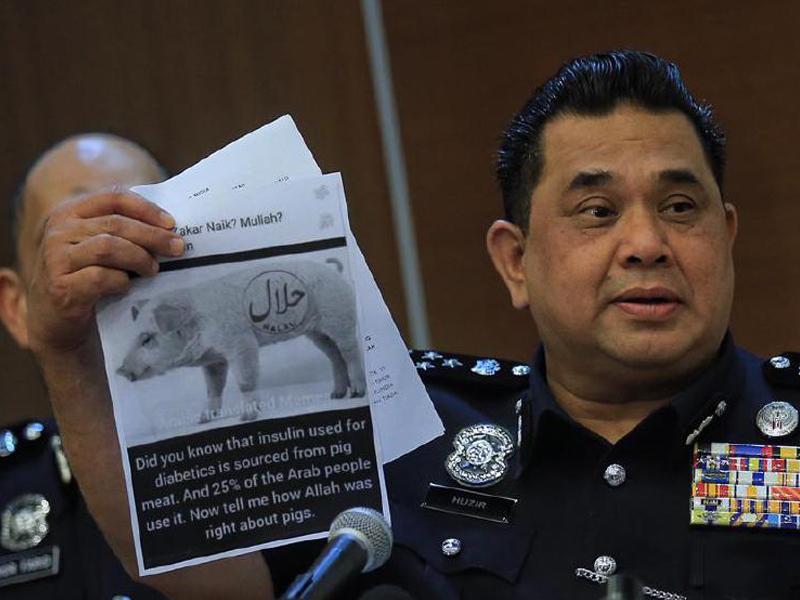 KT Vasagam Muat Naik Gambar Babi Halal Dicekup