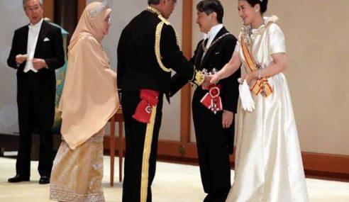 Agong Ucap Tahniah Kepada Kerajaan Jepun