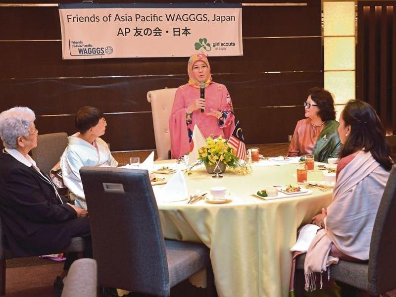 Tunku Azizah Kurnia Sumbangan Mangsa Taufan Hagibis