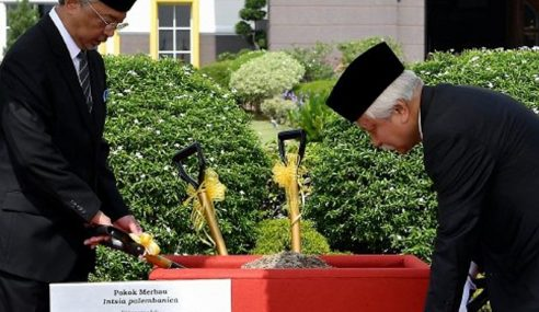 Tanam Pokok Merbau Simbolik Mesyuarat Raja-Raja Ke-255