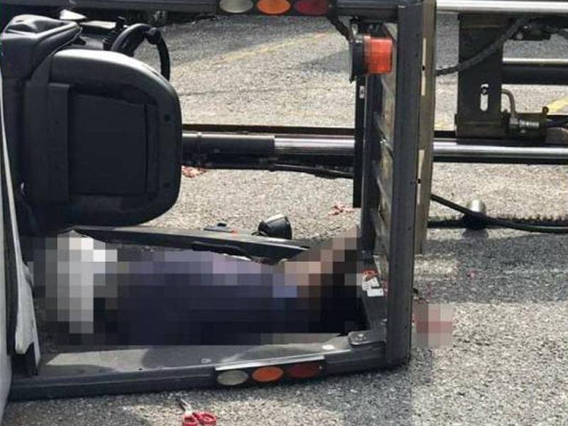 Lelaki Maut Dihempap Forklift