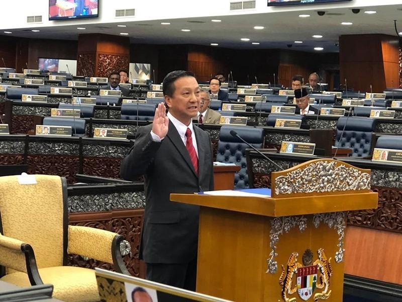 Wee Jeck Seng Angkat Sumpah Ahli Parlimen