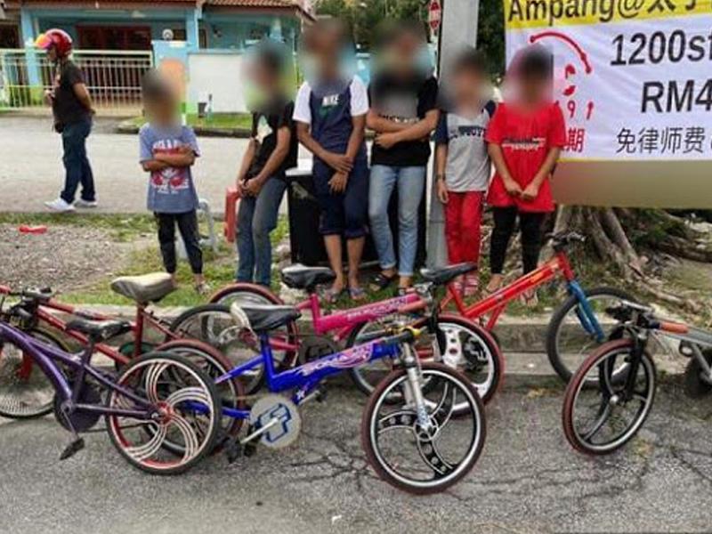 Biar Anak Terbabit Basikal Lajak, 6 Penjaga Ditahan