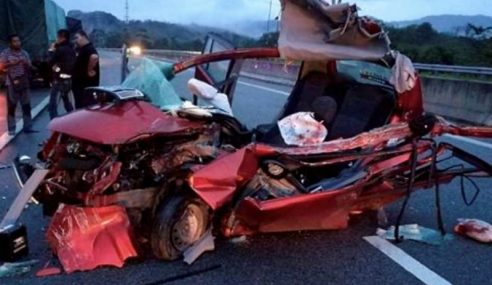 Pemandu Terlelap, 2 Rakan Maut Di Lebuh Raya CSR