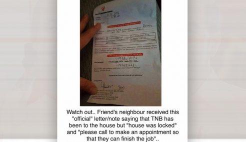 TNB Jelas Notis 'Maklum Balas Rumah Berkunci'