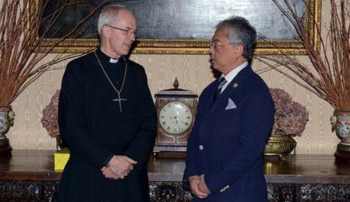 Agong Berkenan Pertemuan Dengan Archbishop Of Canterbury