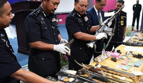 Polis Tembak Mati 3 Lelaki Edar Dadah, Buat Senjata Api