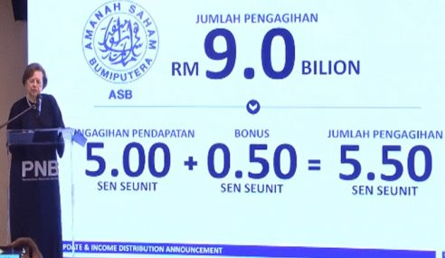 Agihan Pendapatan ASB 5.00 Sen Seunit, Bonus 0.50 Sen