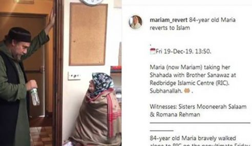 Wanita Peluk Islam Pada Usia 84 Tahun