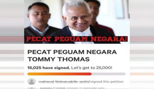 Petisyen Online Pecat Tommy Thomas Dapat 18,000 Sokongan