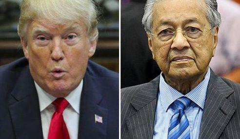 Kedutaan AS Kecewa Kenyataan Mahathir Terhadap Trump