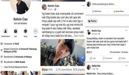Pemilik Facebook 'Kelvin Cao' Dipercayai Warga Tempatan
