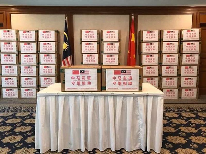 100,000 Topeng Muka Sumbangan China Sudah Tiba