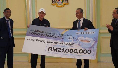 Kerajaan Terima RM4.25 Juta Untuk Tabung COVID-19