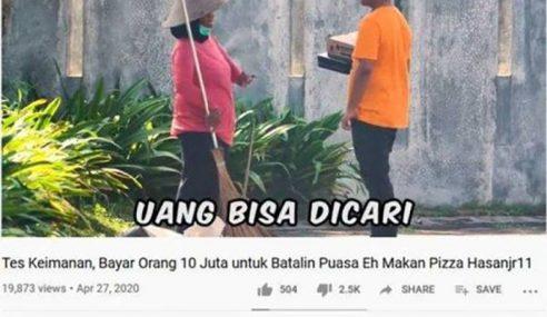 YouTuber Tawar Rp10 Juta Batalkan Puasa Mohon Maaf