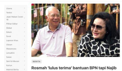Rosmah Tak Pernah Mohon BPN – Najib