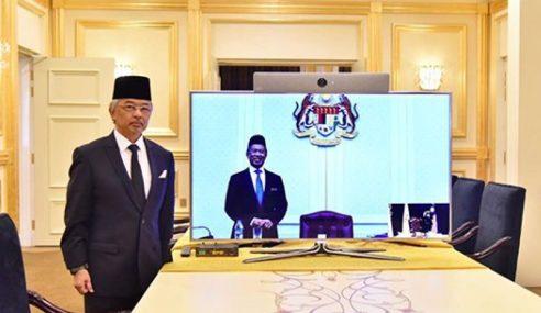Agong Adakan Sesi Pra-Kabinet Melalui Sidang Video