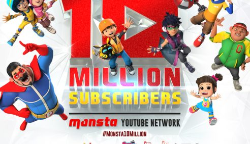 Monsta YouTube Network Melangkaui 10 Juta Langganan