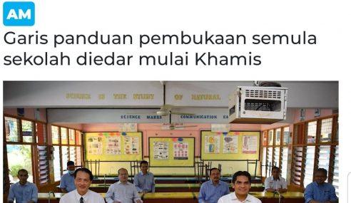 Garis Panduan Pembukaan Sekolah Sudah Siap