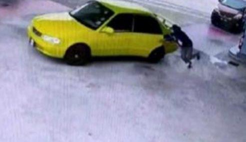 Suspek Curi Kereta Di Pam Minyak Ditahan