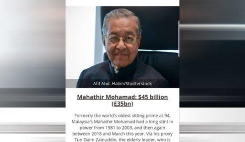 Lovemoney Anggar Kekayaan Mahathir Pada Nilai USD45 Bilion!