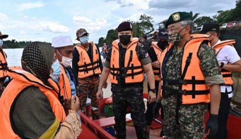 Agong Sertai Operasi SAR Remaja Jatuh Sungai Pahang