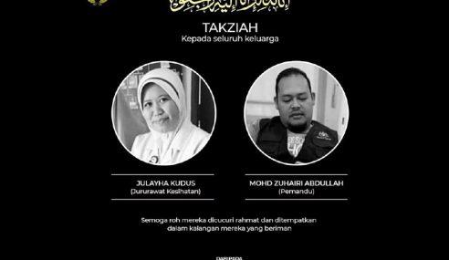 Agong, Permaisuri Zahir Takziah Keluarga Petugas PKD Pekan