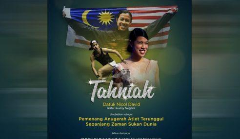 PM Ucap Tahniah Nicol Atlet Terunggul Sepanjang Zaman