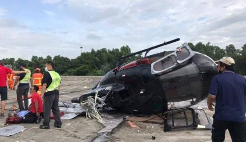 Helikopter Terhempas, 2 Cedera