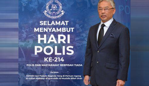 Agong Zahir Ucapan Selamat Hari Polis Ke-214