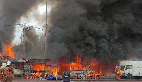 Pasar Besar Datuk Keramat Terbakar