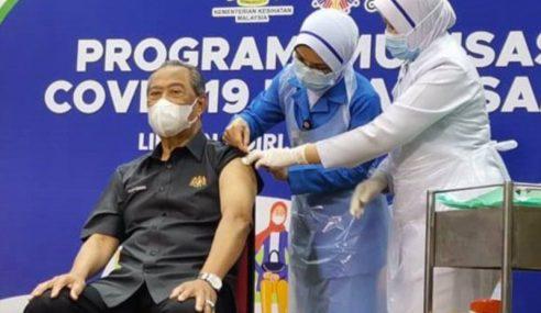 PM Terima Dos Kedua Suntikan Vaksin COVID-19