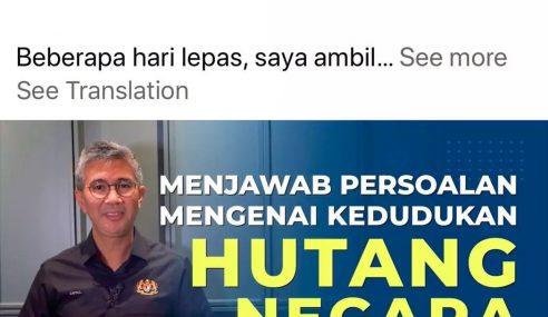 Najib Jawab Menteri Kewangan PN