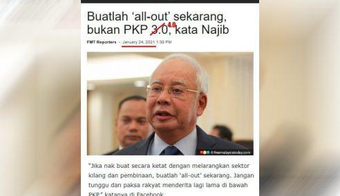 Najib Ajak Rakyat Tuntut 'Full Lockdown'