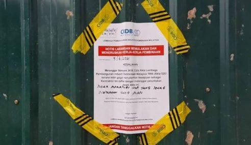 69 Tapak Pembinaan Tak Patuh SOP Diarah Tutup