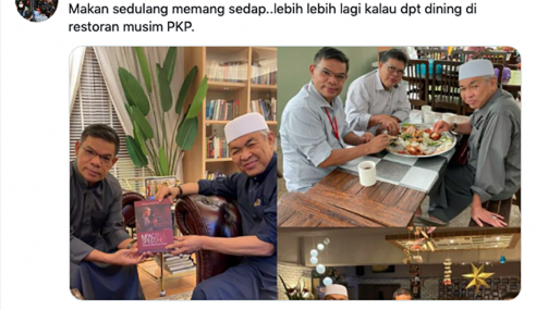 Zahid, Saifuddin, Johari Didakwa Langgar SOP Makan Di Restoran