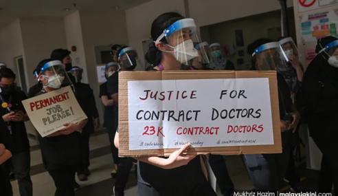 Kumpulan Doktor Kontrak Adakan Protes Serentak