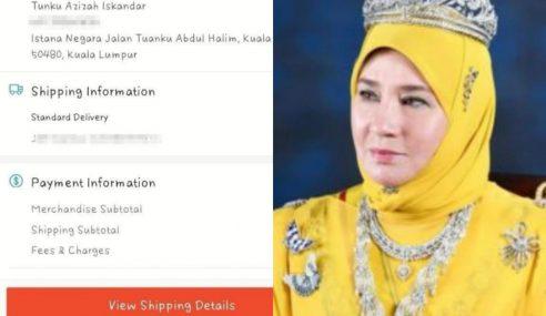 Tunku Azizah Pun 'Order' Dari Shopee